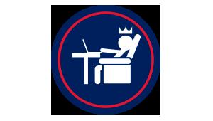 Icono oficina virtual premium
